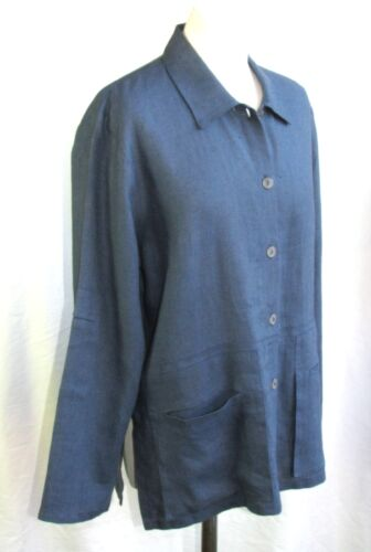3 Sleeves Light Ny Blå 4 40 Størrelse Jacket Cannisse Linen 4qRFBB