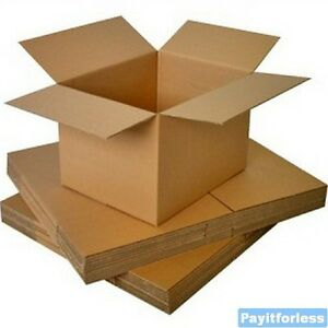 5-034-x-5-034-x-5-034-Kraft-Shipping-Corrugated-Storage-Mailing-Postal-Boxes-25-Pc
