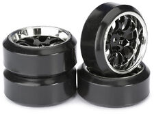Drift Wheels 4 Pack 1/10th RC Deep Dish Split Rim W's + Drift Tyres 12mm Hex
