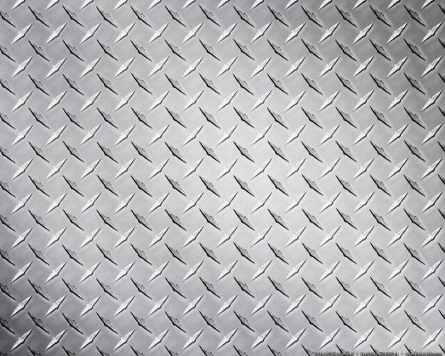 "Aluminum Alloy 3003 Diamond Plate Sheet - 0.25"" x 11 3/4"" x 48"" (7pc Lot) (3A17)"