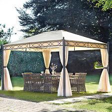 Gazebo 3X4 ferro verniciato tetto idea giardino terrazzo con telo idrorepellente