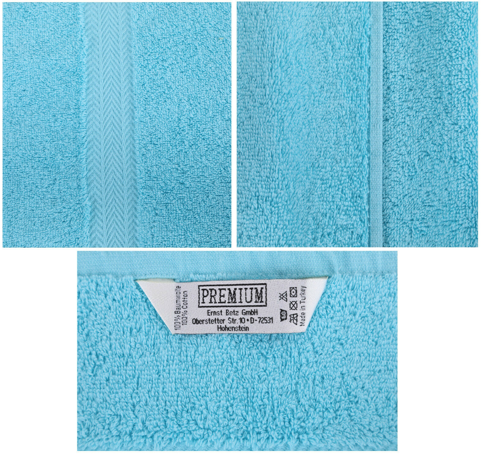 Betz 10 pezzi pezzi pezzi Handtuchset Premium Arancione & Turchese 100% COTONE b86729