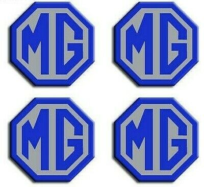 MG ZS LE500 Style Alloy Wheel Centre Caps Badges MG Logo 57mm Badge Black Silver