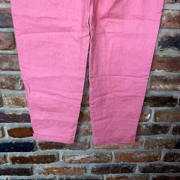 J. Crew Pink Linen Cotton Drawstring Pants Women'… - image 8