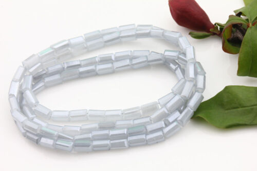 New Lots Faceted Glass Crystal Charms Rectangle/&Teardrop Spacer Loose Beads