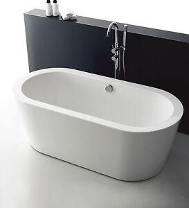 New Longboat 1004w Round Bathroom Freestanding Acrylic