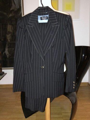 De It G 42 Nadelstreifen Dunkelblau 40 D amp; 36 Dolce Wollgemisch Gabbana Anzug PHRpnCqBn
