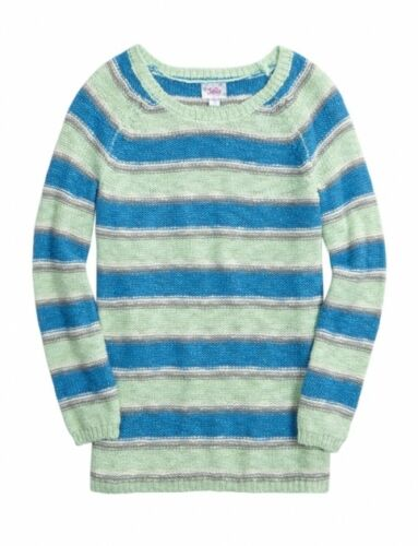 NWT Justice Girls Size 8 or 10 Sophia Striped Cable Knit Longer Length Sweater
