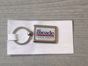 New-Sealed-W-J-Meade-Estate-Agents-Keyring-WJ-Houses-Advertising-Collection