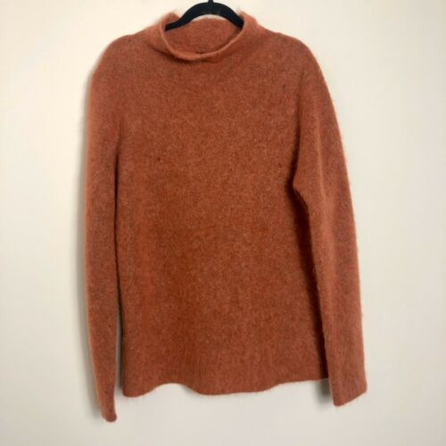 Eileen Fisher Mohair Wool Orange Oversized Sweater