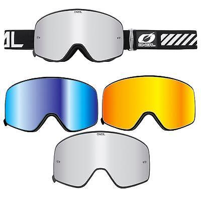 Oneal B-50 Force Pro Pack Moto Cross Occhiali Goggle Set 3x Vetro A Specchio Chiaro-