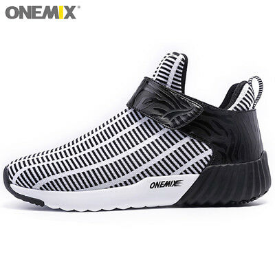 Men's Running Shoes Outdoor Walking Sneakers Sport Jogging Black White Training