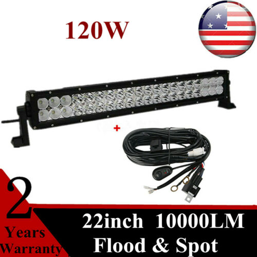 22/'/'inch 120W LED Work Light Bar Combo Beam Lamp Driving Ford Boat RZR Wiring