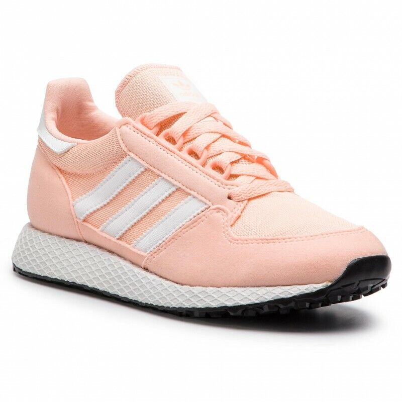 ADIDAS FOREST GROVE J F34325 ORIGINAL DAMEN KINDER Turnschuhe TURNSCHUHE PEACH HIT