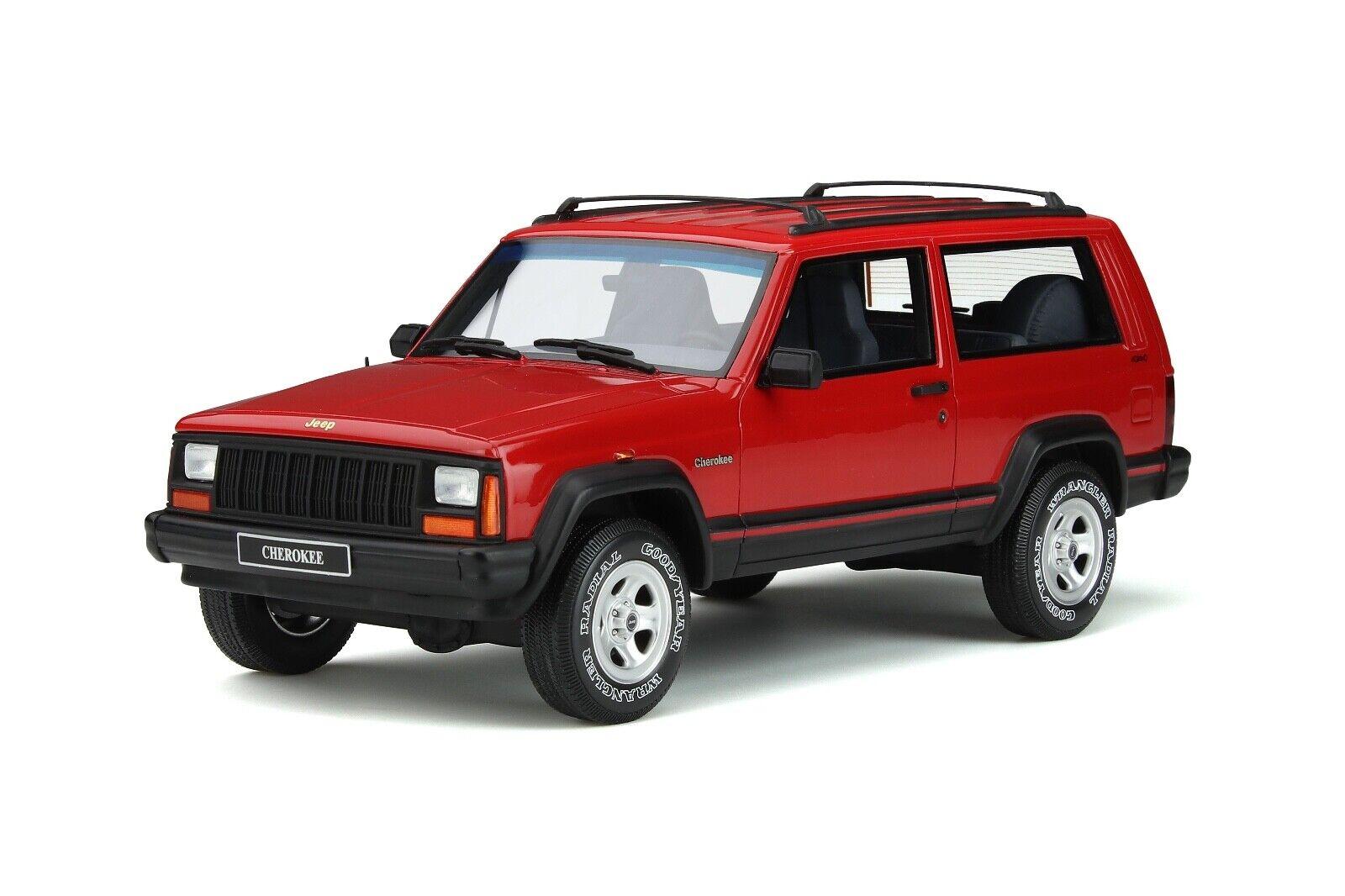 1   18 ottogt Spirit jeep Cherokee EFI 4x4, rojo, 1995 ot738
