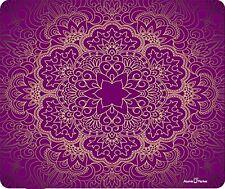 Purple Mandala Flower Pattern Thick Mousepad by Atomic Market