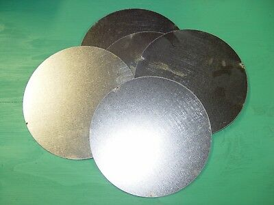 "7/"" diameter discs hobbies 5-pc round galvanized sheet metal disks crafts"