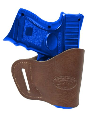 New Barsony Brown Leather Yaqui Holster Kel-Tec Sccy Kimber Compact 9mm 40 45