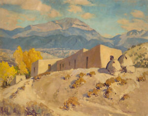 Canvas Santa Fe >> Parsons Sheldon Santa Fe Baldy From Nambe New Mexico Canvas 16 X 20