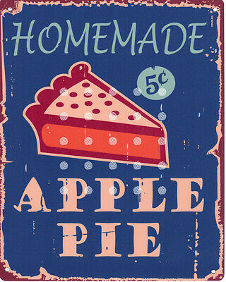 HOMEMADE APPLE PIE KITCHEN  METAL SMALL SIGN  pub bar shop cafe tea room tin
