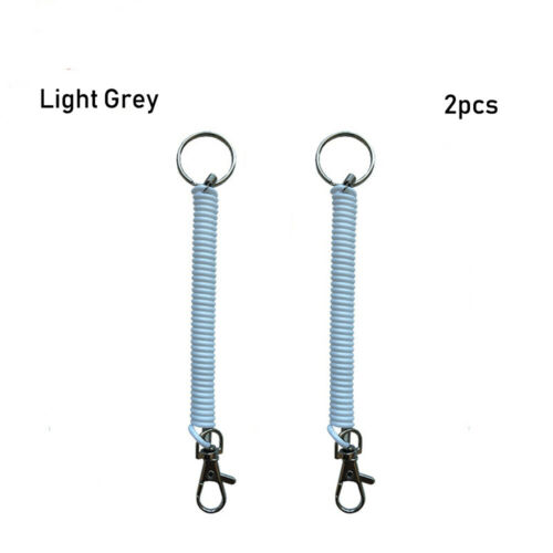 Spring Outdoor Hiking Ropes Phone Elastic Rope Camping Anti-lost Keychain