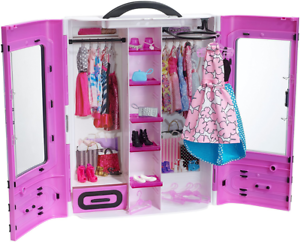 Image Is Loading Barbie Clothes Closet Best Ultimate Doll Clothing Wardrobe