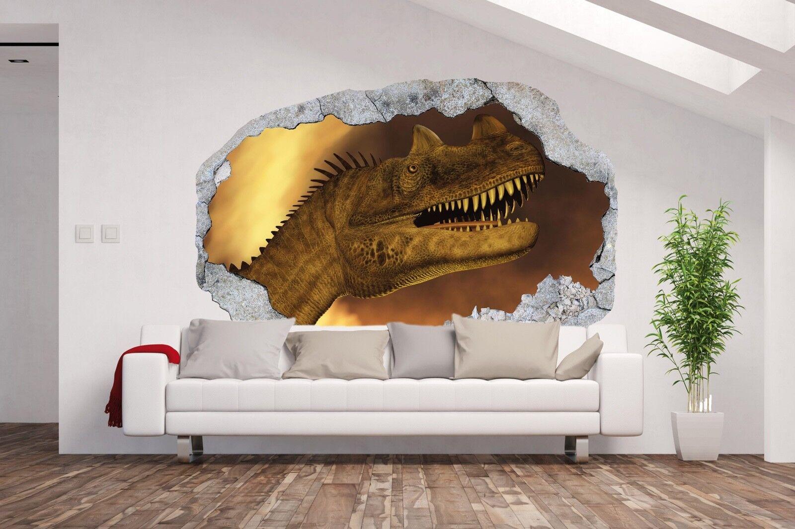 VliesTapete / Fototapete / 3D Illusion LOCH IN DER WAND / Dino Kinderzimmer