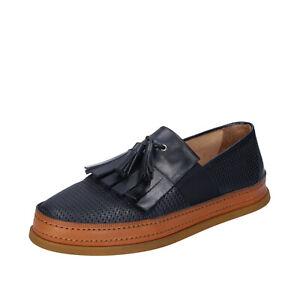 Dettagli su scarpe uomo ROBERTO BOTTICELLI 40 EU mocassini blu pelle BR758 40