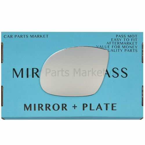 For BMW M3 E36 92-99 Left passenger side Flat wing mirror glass with plate