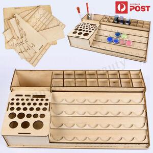 Wooden-Pigment-Paint-Bottles-Rack-Organizer-Epoxy-Tools-Storage-Model-Box