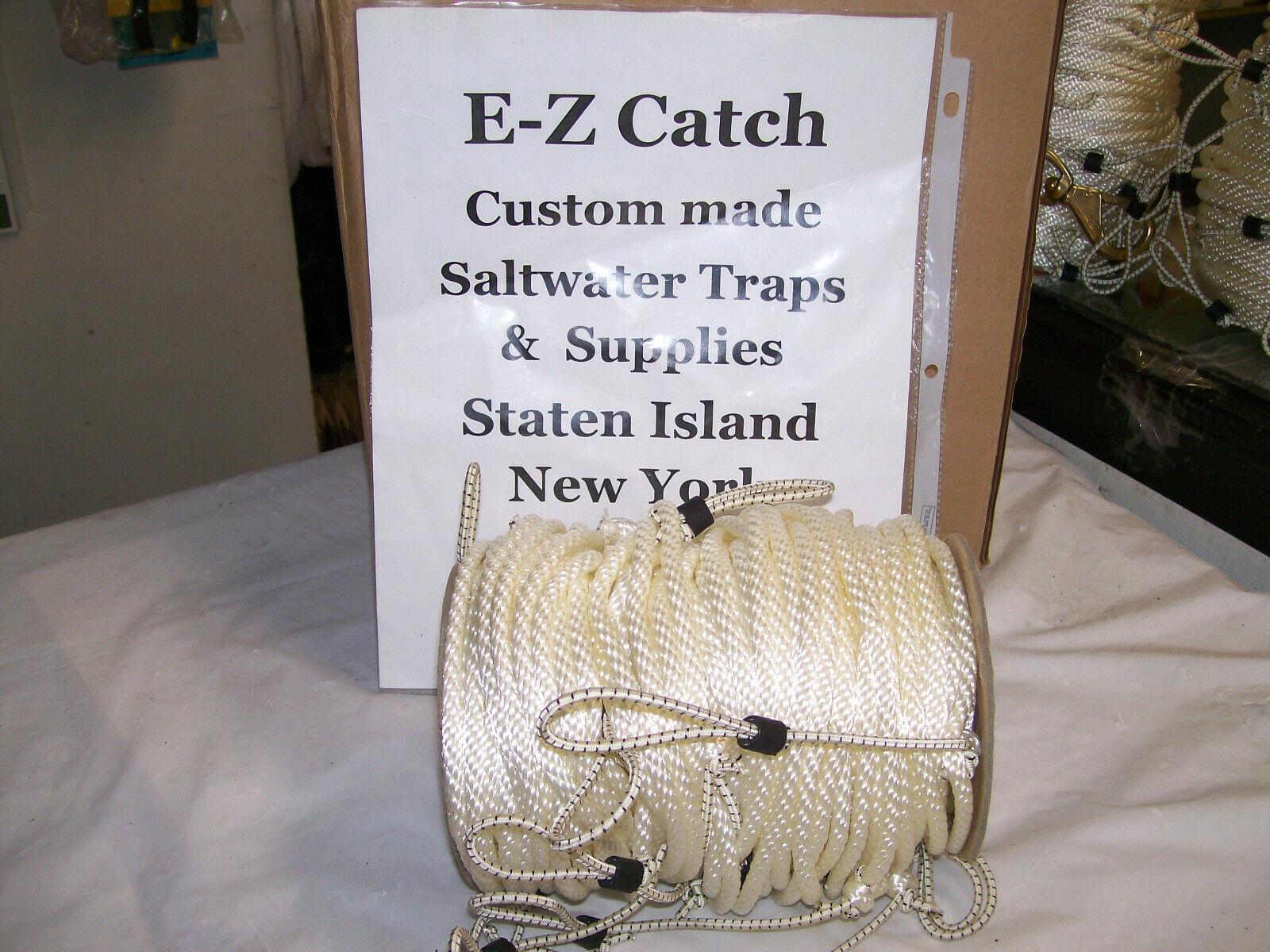 New Jersey Legal 1  4  Medium-Lay Snood Crab Tredline 150 Foot w  25 Snoods  best quality best price