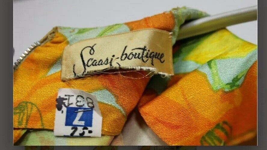 Scaasi Boutique Ruth Roaman Vintage1960s  Bold Fl… - image 2