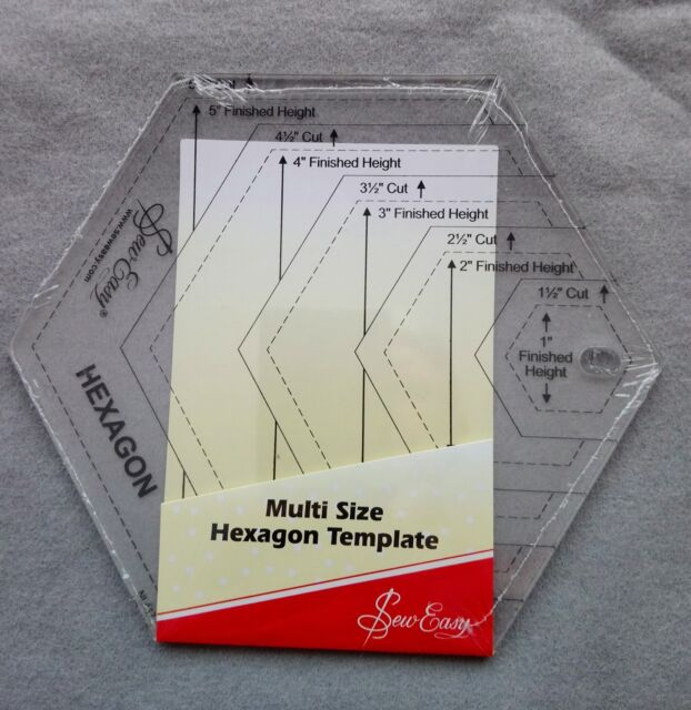 graphic regarding Online Printable Ruler named Sew Straightforward Multi Sizing Hexagon Template Ruler NL4170