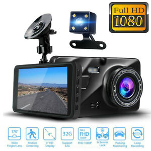 4-0-1080P-Car-DVR-HD-Dual-Lens-Rearview-Dash-Cam-Video-Recorder-Rear-Camera-New