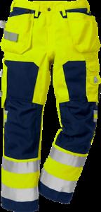 Fristads Kansas 100997-171 Hi Viz Craftmans Trousers Cordura 300gsm