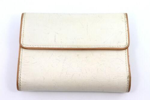 Vintage COACH White Leather Medium Wallet