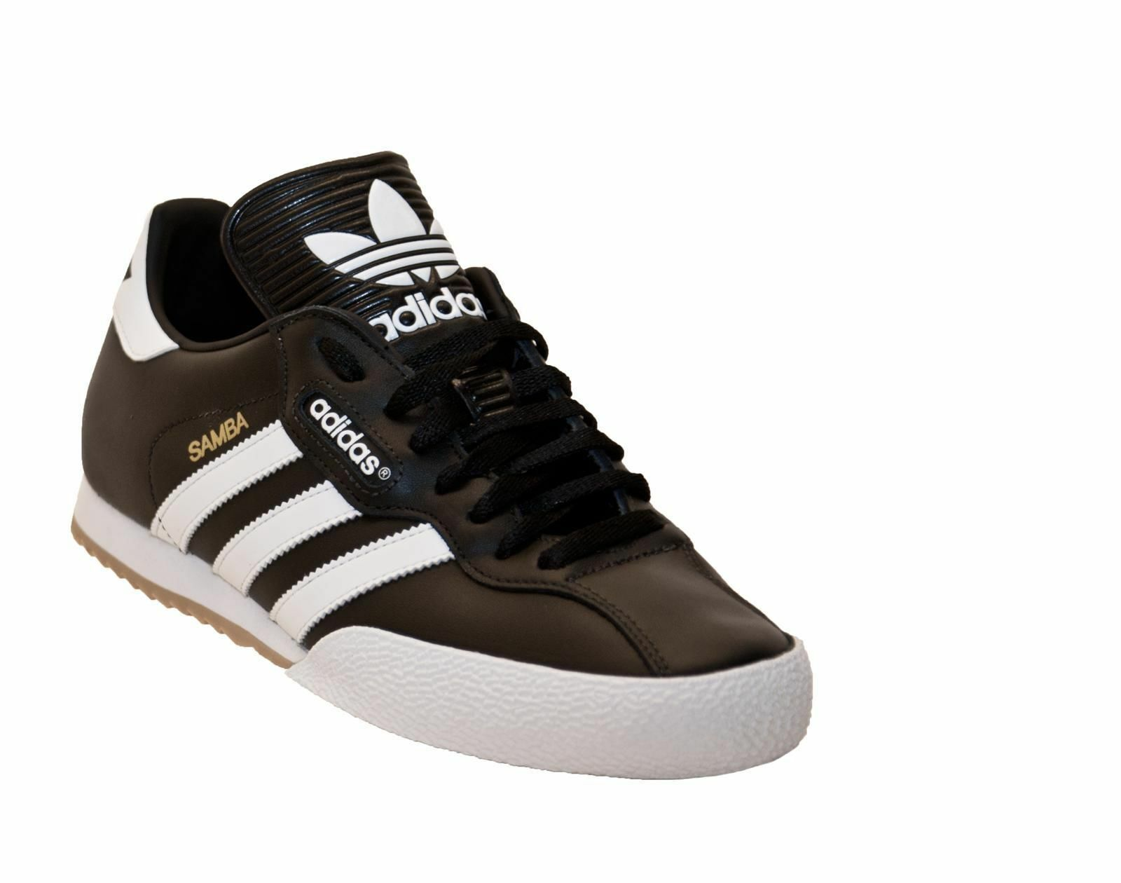 NUOVO Adidas Originale Uomo Samba Super Scarpe Da taglia Ginnastica Nero / Bianco taglia Da 7-11 9fb570