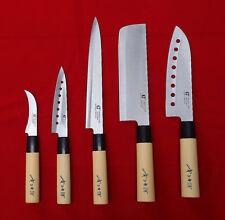 5 Knives Set Chef Knife Japanese Sashimi Kitchen Cutlery Stainless Steel Sushi