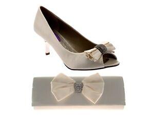 Chaussures Femme Talons Plats Satin Strass Noeud Mariage Bout Ouvert Chaussures Sandales Taille-afficher Le Titre D'origine