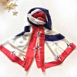 180-90cm-Silk-Scarf-Women-Shawls-New-Fashion-Long-Blue-and-White-Airplane-Pure