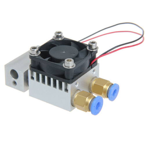 Latest Extruder Dual Extrusion 2in-1 out hotend 0.5mm nozzle For 3D Printer