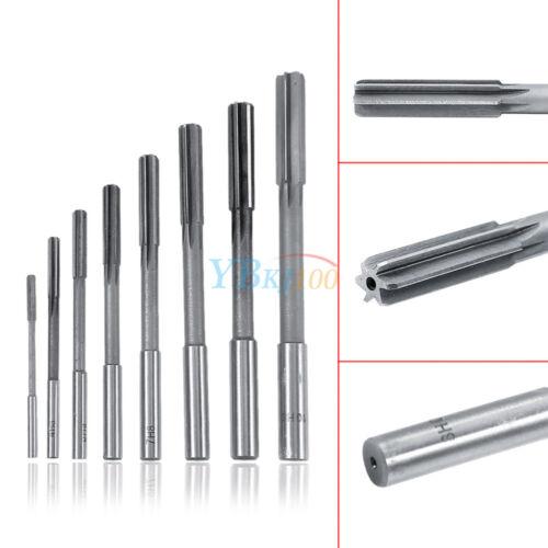 8Pcs 3-10mm Set Straight Shank HSS Chucking Reamers Milling Countersink Cutter