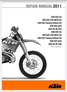 2011 Ktm 250 300 Exc Engine Repair Manual Digital Manual Ebay