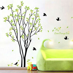 Image Is Loading Tree Bird Quote Removable Vinyl Wall Decal Mural  Part 75