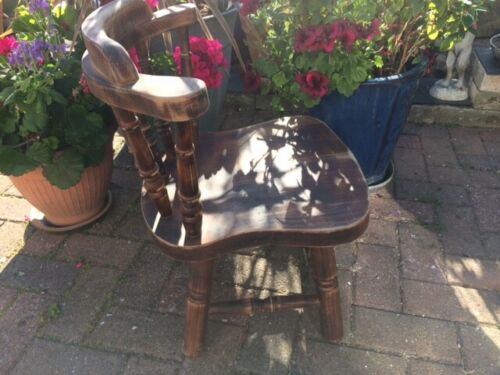 Child's Vintage Chair, solid Beech.