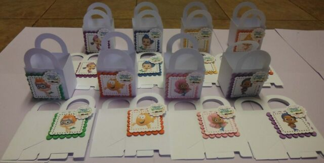 12 BUBBLE GUPPIES Personalized boxes birthday party favors goody bags