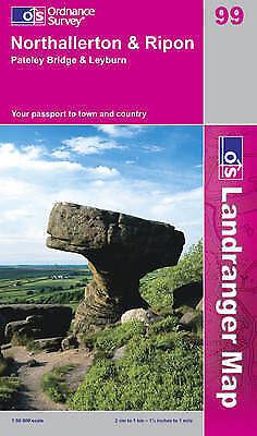 Northallerton and Ripon, Pateley Bridge and Leyburn (OS Landranger-ExLibrary