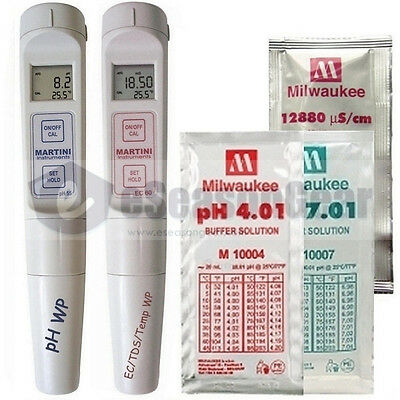PH55 + EC59  COMBO - Milwaukee Waterproof PH/EC/TDS/PPM/Temp Meter/Solution