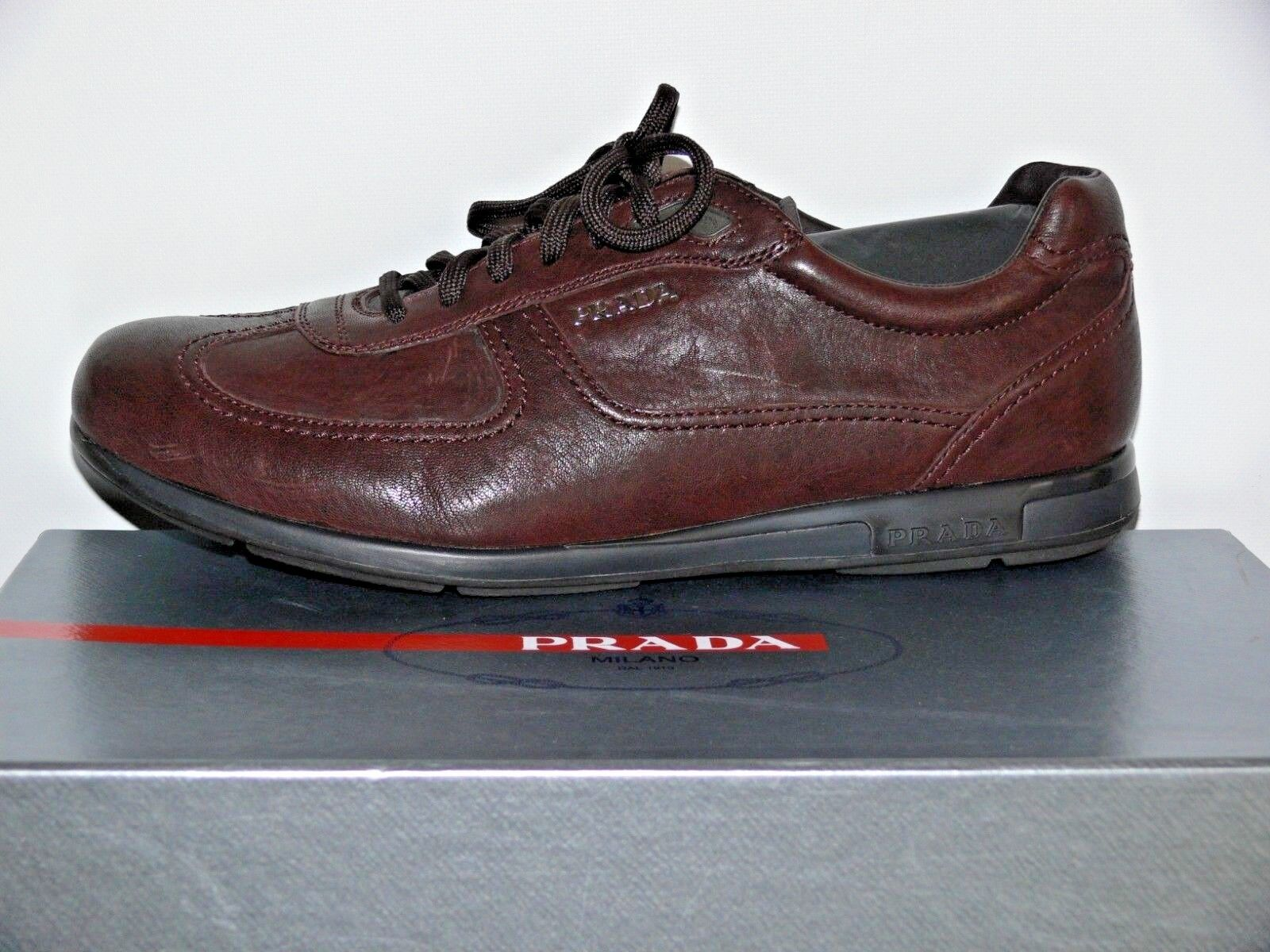 NEW  790.00 PRADA MADE IN ITALY NAPPA NAPPA NAPPA AVIATOR 6 GENUINE LEATHER US 10.5 45b840