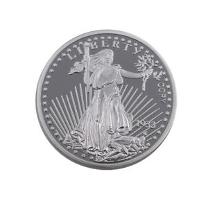 0US-Silver-Coin-999-9-Silver-Plated-Challenge-Coin-Liberty-Commemorative-Crafts